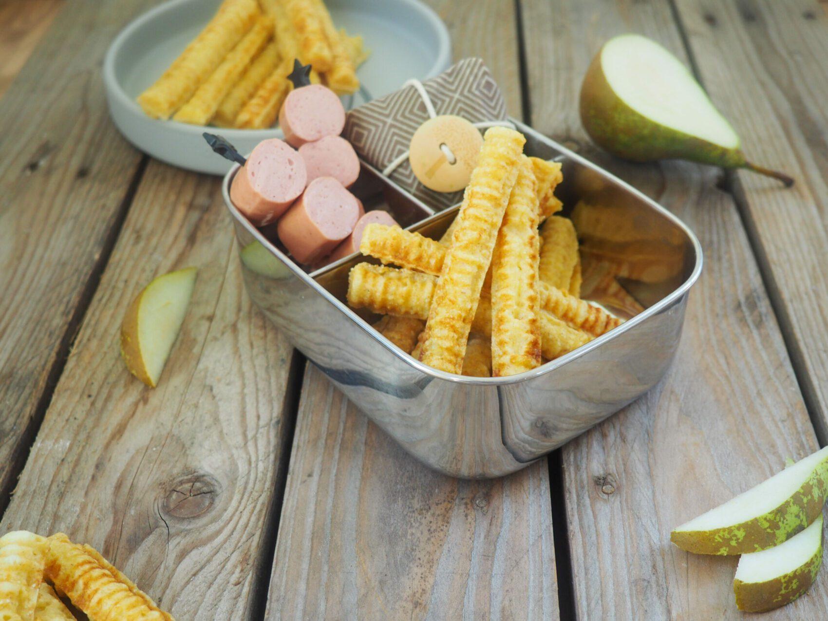 Brotbox Idee Kartoffel-Waffel-Pommes
