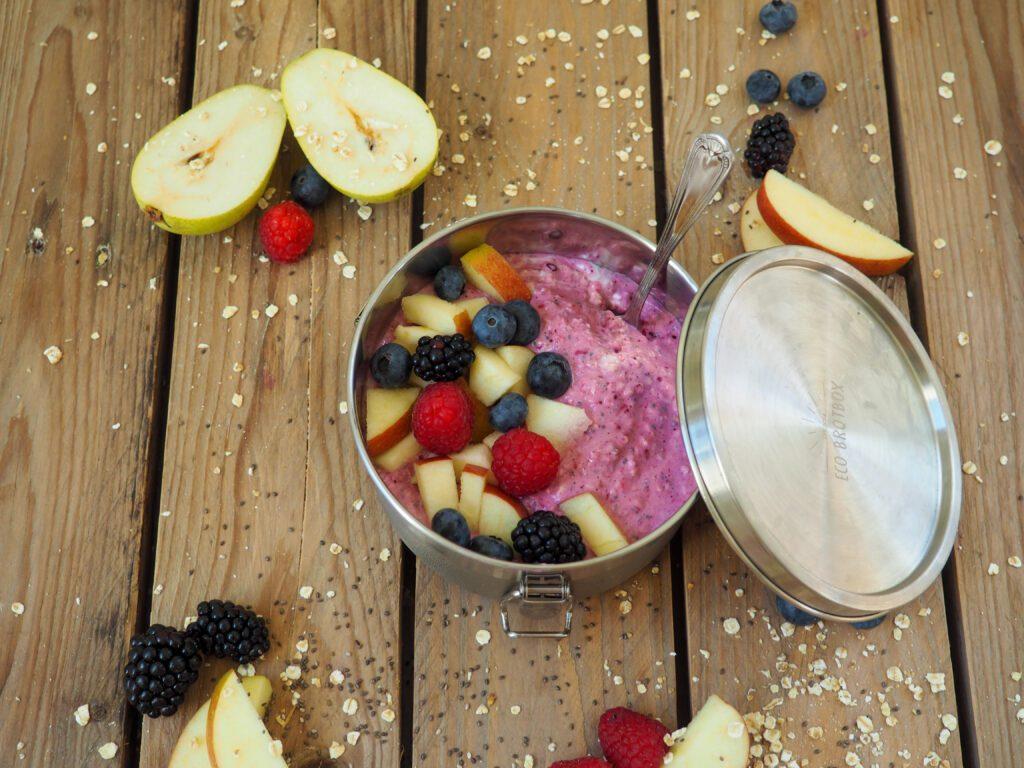 Beeren Bircher Müsli Rezept für Kinder
