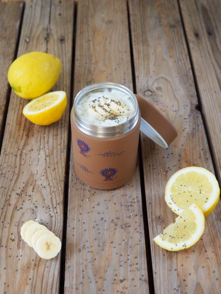 Brotbox Idee Zitronenjoghurt