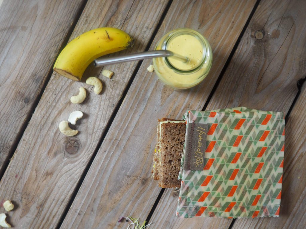 Bananen-Smoothie Brotboxidee