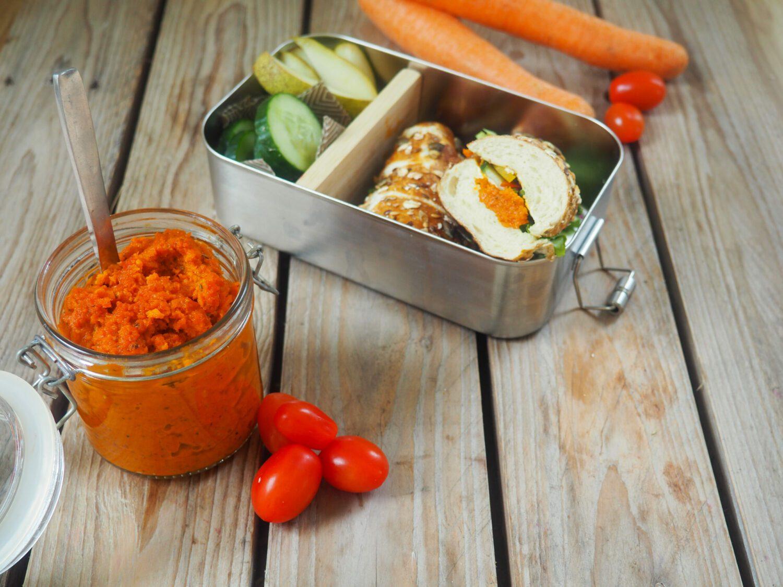 Tomate-Karotte-Brotaufstrich