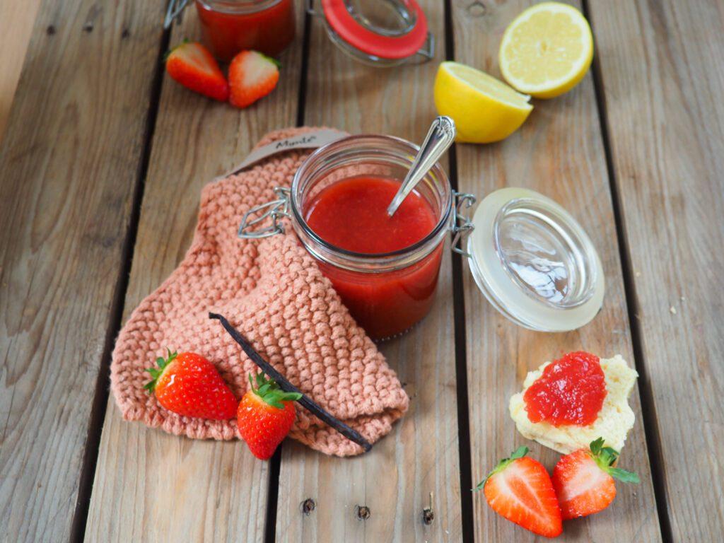 zuckerfreie Erdbeermarmelade für Kinder